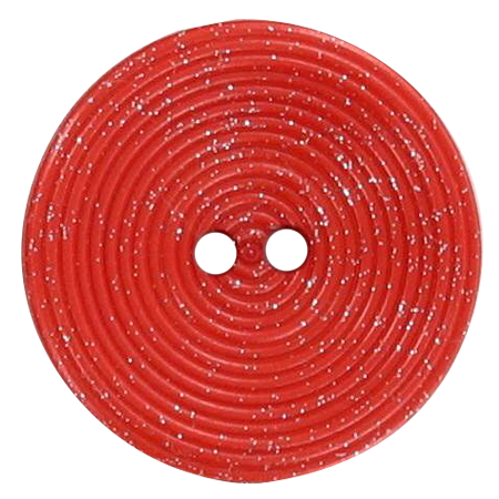 Bouton 2 trous disque pailleté orange - 1,8 cm