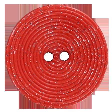 Bouton 2 trous disque pailleté orange - 2,8 cm