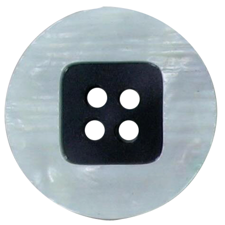 Bouton 4 trous blanc - 2,2 cm