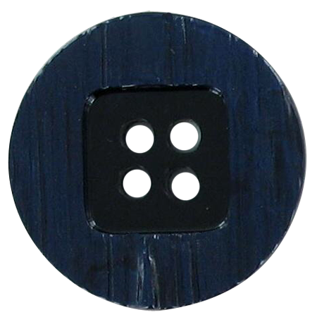 Bouton 4 trous bleu marine - 2,2 cm