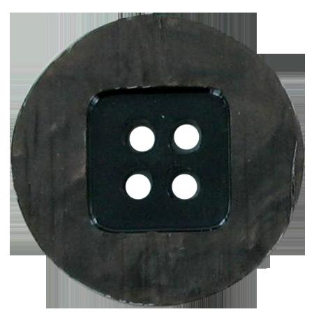 Bouton 4 trous marron - 2,2 cm