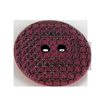 Bouton 2 trous slave rouge - 2,7 cm