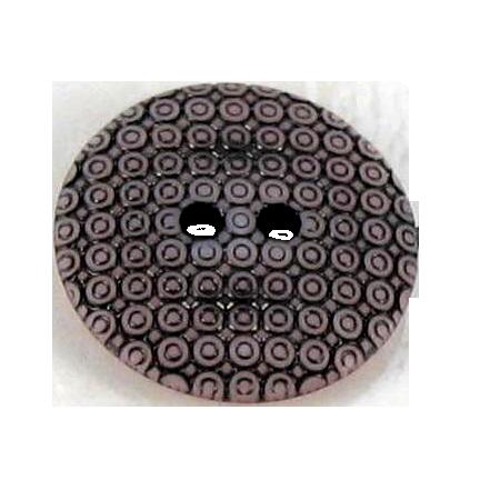Bouton 2 trous slave rose - 2,7 cm