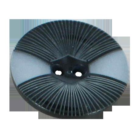Bouton 2 trous gris - 2,2 cm