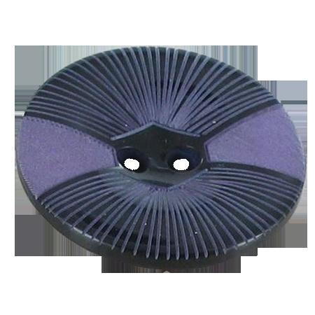 Bouton 2 trous violet - 2,2 cm