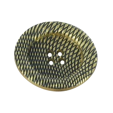 Bouton 4 trous toile doré - 2,8 cm