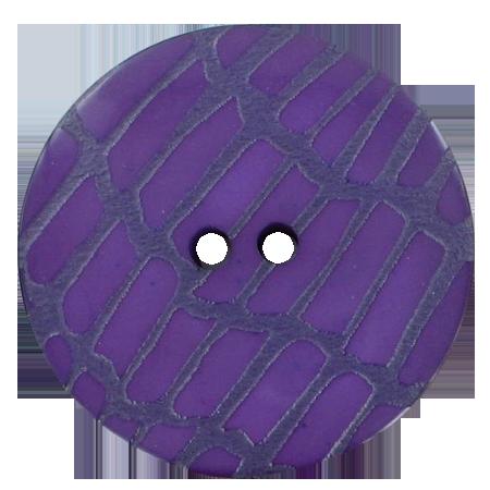 Bouton 2 trous peau violet - 3,4 cm