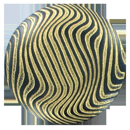Bouton zébrures à queue doré - 3,4 cm
