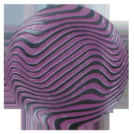 Bouton zébrures à queue violet - 3,4 cm