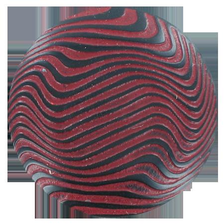 Bouton zébrures à queue rouge - 2,2 cm