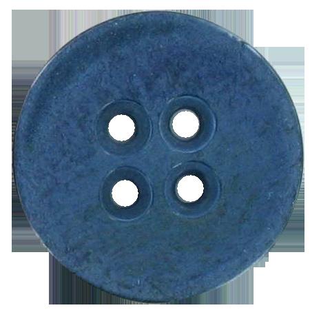 Bouton 4 trous bleu - 2,2 cm