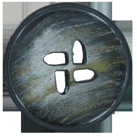 Bouton 4 trous gris - 3 cm