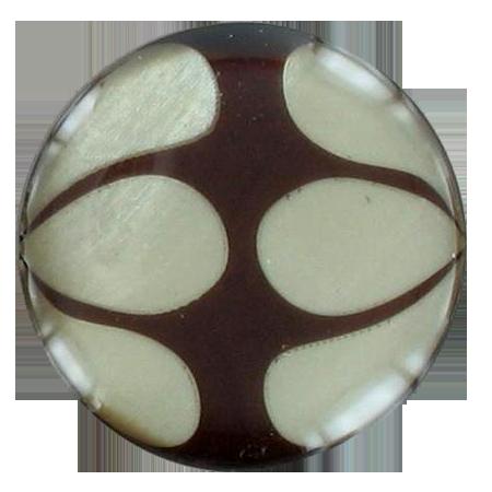 Bouton pop à queue marron - 1,8 cm