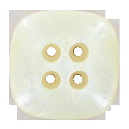 Bouton 4 trous carré ivoire - 2,2 cm