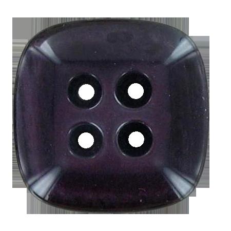 Bouton 4 trous carré violet - 2,8 cm