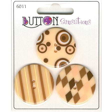 Boutons sensations Ø 3.3 cm - Natural