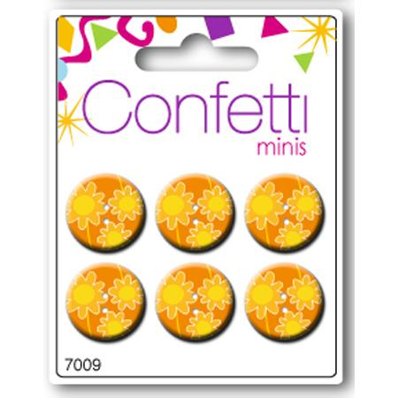 Boutons confetti minis - Marguerite