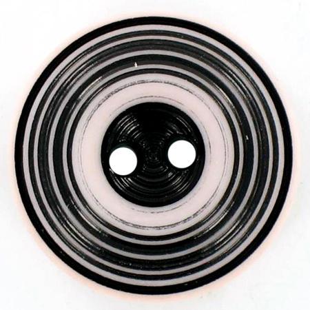 Bouton spirale bicolore - Rose et noir