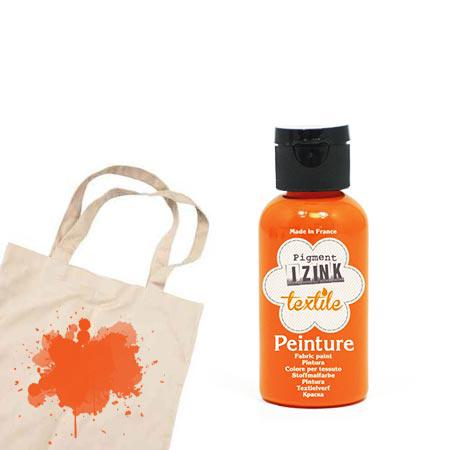 Izink peinture textile - Orange nylon - 50 ml