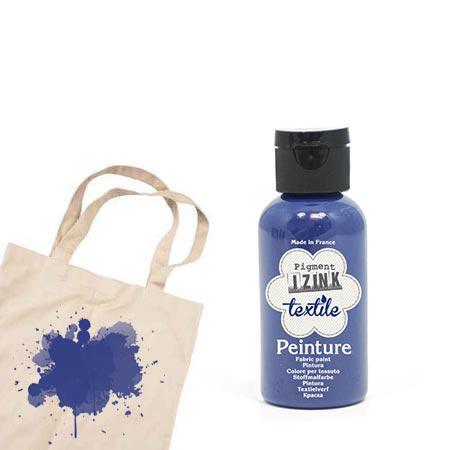 Izink peinture textile - Bleu nuit denim - 50 ml