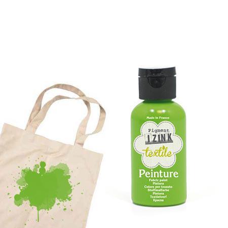 Izink peinture textile - Vert clair satin - 50 ml