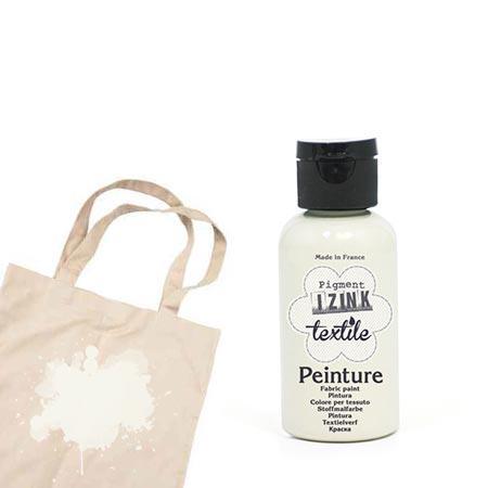 Izink peinture textile - Blanc coton - 50 ml