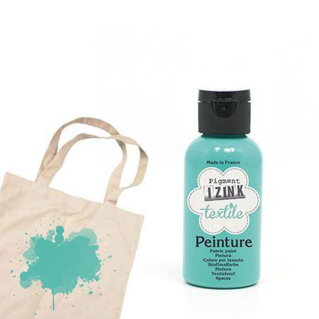 Izink peinture textile - Vert d'eau tulle - 50 ml
