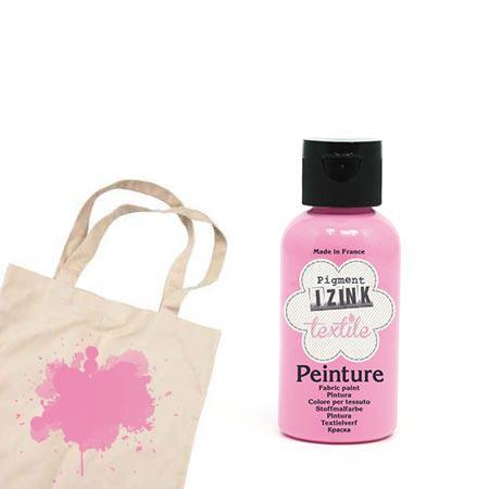 Izink peinture textile - Rose pâle mousseline - 50 ml
