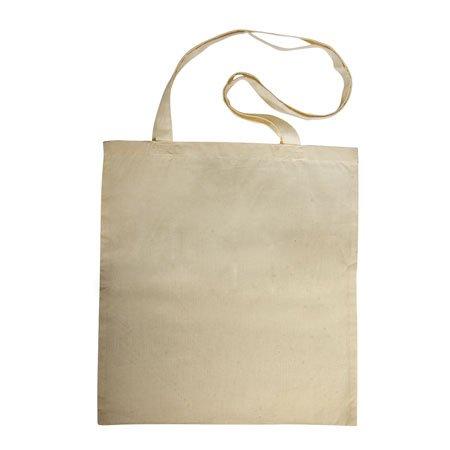Sac tote bag en coton - écru - 38 x 42 cm