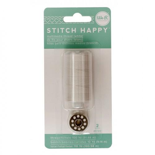Fil à coudre blanc Stitch Happy