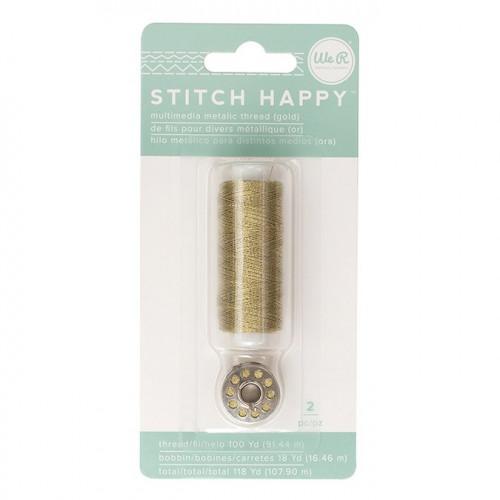 Fil à coudre métallique Or Stitch Happy