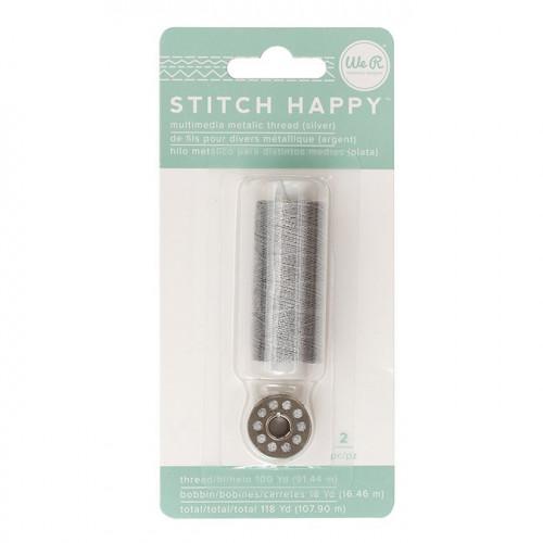 Fil à coudre métallique Argent Stitch Happy