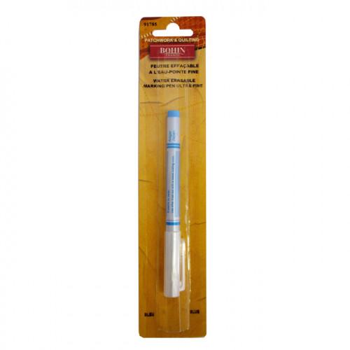Stylo pointe fine encre bleue effaçable à l'eau
