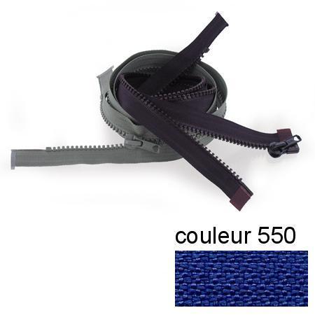 Fermeture « Eclair » nylon séparable 75 cm - Bleu bugatti