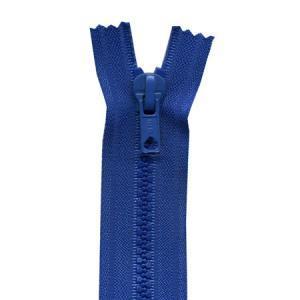 Fermeture « Eclair » nylon séparable 80 cm - Bleu drapeau