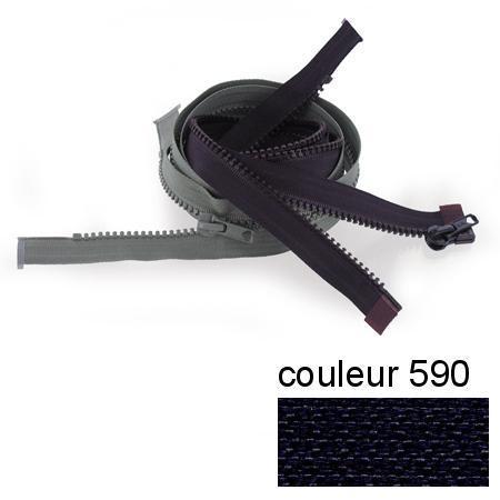 Fermeture « Eclair » nylon séparable 45 cm - Marine foncé