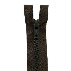 Fermeture « Eclair » nylon séparable 60 cm - Brou de noix