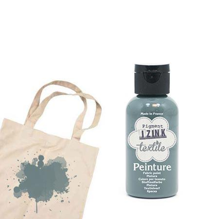 Izink peinture textile - Gris foncé flanelle - 50 ml