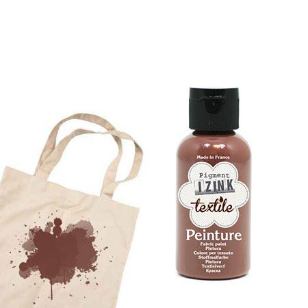 Izink peinture textile - Marron suédine - 50 ml