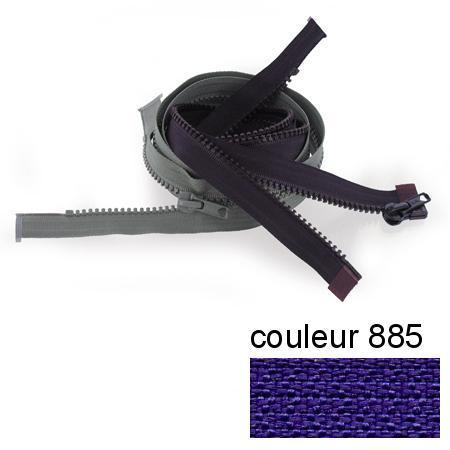 Fermeture « Eclair » nylon séparable 75 cm - Myrtille