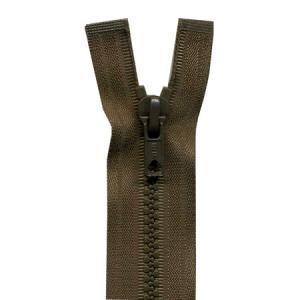 Fermeture « Eclair » nylon séparable 85 cm - Tabac