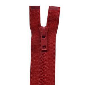 Fermeture « Eclair » nylon séparable 75 cm - Rouge sang