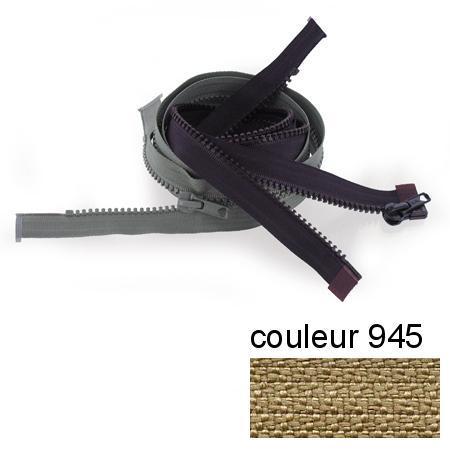 Fermeture « Eclair » nylon séparable 80 cm - Beige moyen