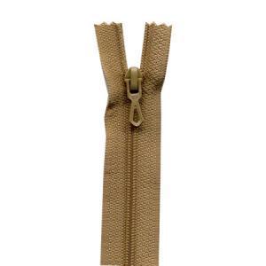 Fermeture « Eclair » nylon non séparable 55 cm - Beige antilope