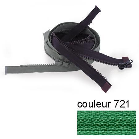 Fermeture « Eclair » nylon séparable 50 cm - Vert émeraude