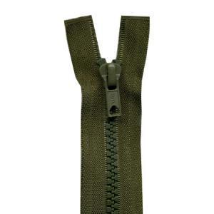 Fermeture « Eclair » nylon séparable 50 cm - Kaki foncé