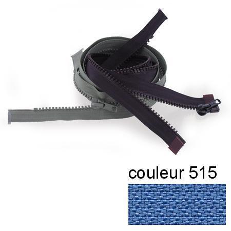Fermeture « Eclair » nylon séparable 55 cm - Bleu royal