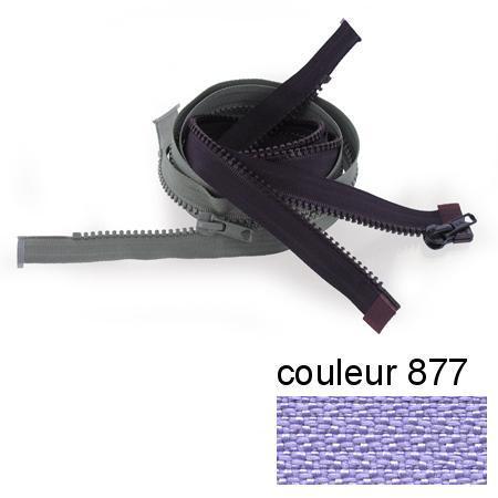 Fermeture « Eclair » nylon séparable 55 cm - Lavande
