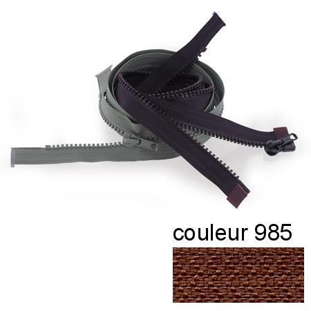 Fermeture « Eclair » nylon séparable 55 cm - Muscade