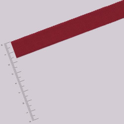 Ruban gros grain - 1,6 cm - Bordeaux